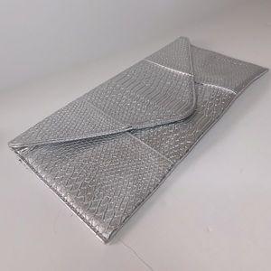Snake Embossed Clutch Bag